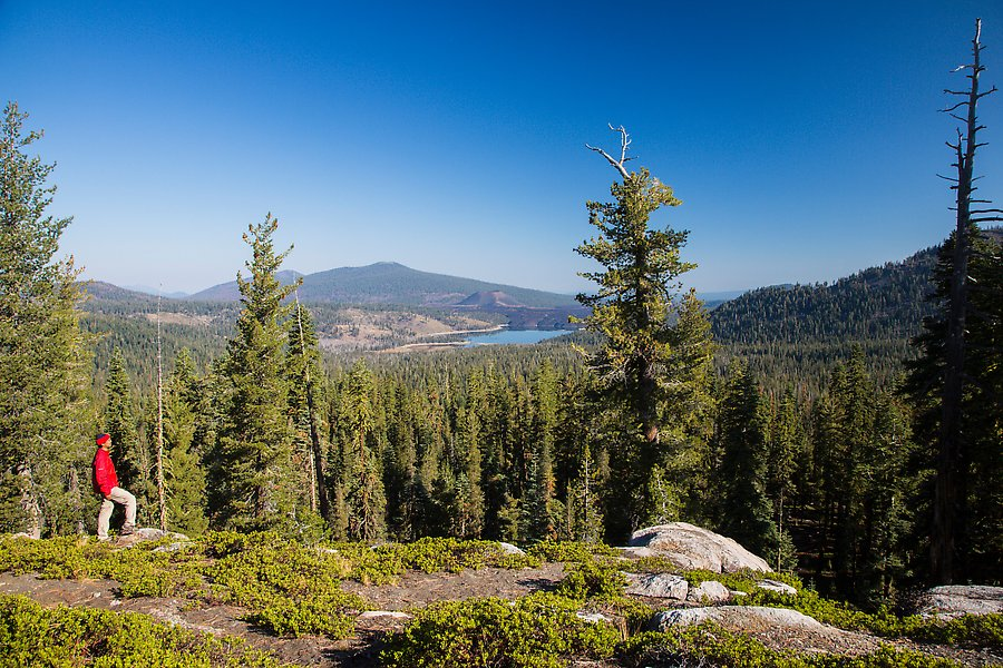 Inspiration point for Lassen volcanic national park cabins